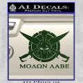 Molon Labe CS Decal Stickers Dark Green Vinyl 120x120