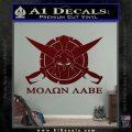Molon Labe CS Decal Stickers Dark Red Vinyl 120x120