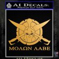 Molon Labe CS Decal Stickers Metallic Gold Vinyl 120x120