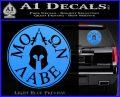 Molon Labe Come And Take Them s Decal Sticker Light Blue Vinyl 120x97