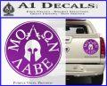 Molon Labe Come And Take Them s Decal Sticker Purple Vinyl 120x97