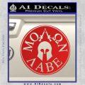 Molon Labe Come And Take Them s Decal Sticker Red Vinyl 120x120