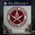 Molon Labe Come Take It CR2 Decal Sticker Dark Red Vinyl 120x120