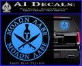 Molon Labe Come Take It CR2 Decal Sticker Light Blue Vinyl 120x97