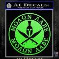 Molon Labe Come Take It CR2 Decal Sticker Lime Green Vinyl 120x120