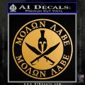 Molon Labe Come Take It CR2 Decal Sticker Metallic Gold Vinyl Vinyl 120x120