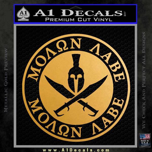 Molon Labe Come Take It CR2 Decal Sticker Metallic Gold Vinyl Vinyl