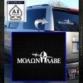 Molon Labe DWS Decal Sticker White Emblem 120x120