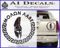Molon Labe Decal Sticker CR23 Carbon Fiber Black 120x97