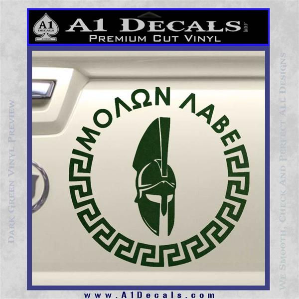 Molon Labe Decal Sticker Cr23 187 A1 Decals
