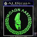 Molon Labe Decal Sticker CR23 Lime Green Vinyl 120x120