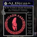Molon Labe Decal Sticker CR23 Pink Vinyl Emblem 120x120