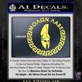 Molon Labe Decal Sticker CR23 Yelllow Vinyl 120x120