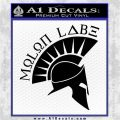Molon Labe Decal Sticker Spartan D8 Black Logo Emblem 120x120