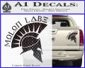 Molon Labe Decal Sticker Spartan D8 Carbon Fiber Black 120x97