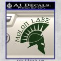 Molon Labe Decal Sticker Spartan D8 Dark Green Vinyl 120x120