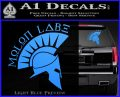 Molon Labe Decal Sticker Spartan D8 Light Blue Vinyl 120x97