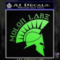 Molon Labe Decal Sticker Spartan D8 Lime Green Vinyl 120x120