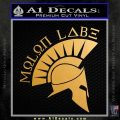 Molon Labe Decal Sticker Spartan D8 Metallic Gold Vinyl 120x120