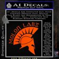 Molon Labe Decal Sticker Spartan D8 Orange Vinyl Emblem 120x120