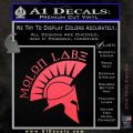 Molon Labe Decal Sticker Spartan D8 Pink Vinyl Emblem 120x120