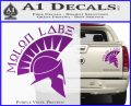 Molon Labe Decal Sticker Spartan D8 Purple Vinyl 120x97