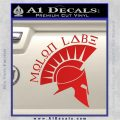 Molon Labe Decal Sticker Spartan D8 Red Vinyl 120x120