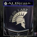 Molon Labe Decal Sticker Spartan D8 Silver Vinyl 120x120