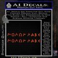 Molon Labe Greek Lettering Decal Sticker Orange Vinyl Emblem 120x120