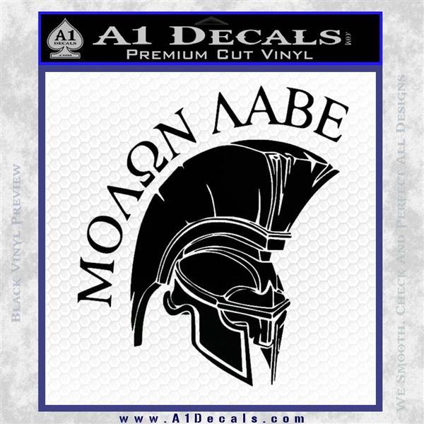 Molon Labe HEL Decal Sticker D7 Black Logo Emblem