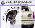 Molon Labe HEL Decal Sticker D7 Carbon Fiber Black 120x97