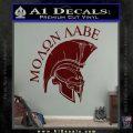 Molon Labe HEL Decal Sticker D7 Dark Red Vinyl 120x120