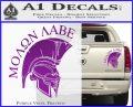 Molon Labe HEL Decal Sticker D7 Purple Vinyl 120x97