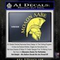 Molon Labe HEL Decal Sticker D7 Yelllow Vinyl 120x120