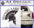 Molon Labe Helmet Decal Sticker D6 Carbon Fiber Black 120x97