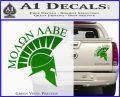 Molon Labe Helmet Decal Sticker D6 Green Vinyl 120x97