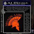 Molon Labe Helmet Decal Sticker D6 Orange Vinyl Emblem 120x120