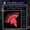 Molon Labe Helmet Decal Sticker D6 Pink Vinyl Emblem 120x120