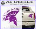 Molon Labe Helmet Decal Sticker D6 Purple Vinyl 120x97