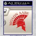 Molon Labe Helmet Decal Sticker D6 Red Vinyl 120x120