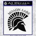 Molon Labe Helmet New s Decal Sticker Black Logo Emblem 120x120