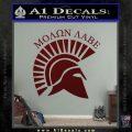 Molon Labe Helmet New s Decal Sticker Dark Red Vinyl 120x120