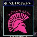 Molon Labe Helmet New s Decal Sticker Hot Pink Vinyl 120x120