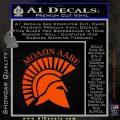 Molon Labe Helmet New s Decal Sticker Orange Vinyl Emblem 120x120