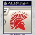 Molon Labe Helmet New s Decal Sticker Red Vinyl 120x120