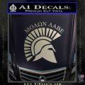 Molon Labe Helmet New s Decal Sticker Silver Vinyl 120x120