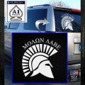 Molon Labe Helmet New s Decal Sticker White Emblem 120x120