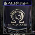 Molon Labe Omega Decal Sticker R2 Silver Vinyl 120x120