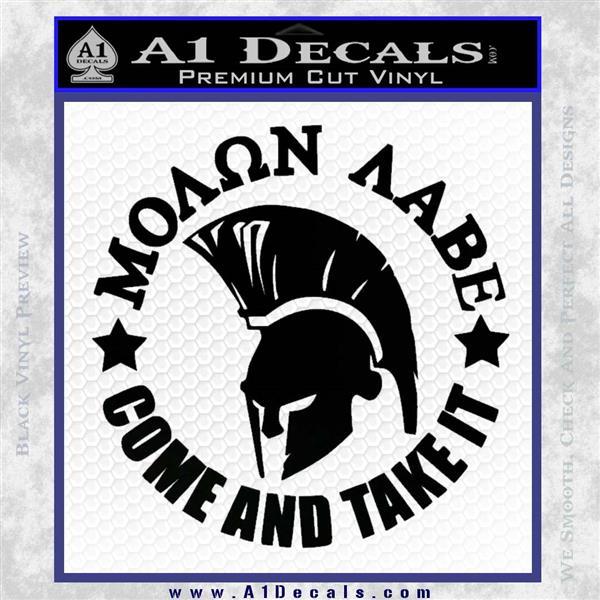 Molon Labe Spartan CR5 Decal Sticker Black Logo Emblem