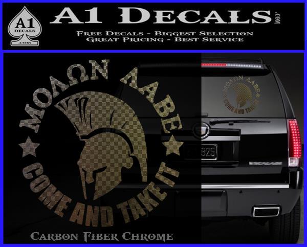 MOLON LABE Metal License Plate NRA Decal Pro Gun 2nd Amendment Spartan 9mm AR15